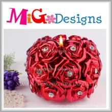 Design moderno flor em forma de chá Llight vela do favor do casamento