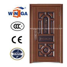 Nordamerika Außen Eingang Sicherheit Stahl Kupfer Tür (W-ST-06)