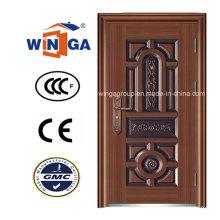 North America Exterior Entrance Security Steel Copper Door (W-ST-06)