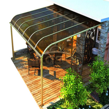 Couverture de patio en aluminium en polycarbonate
