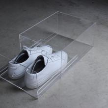 Fábrica de Yageli hizo la caja de almacenaje clara del zapato del acrílico del perspex