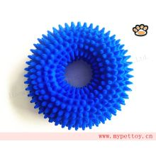 Flocking Spiked TPR Ring Dog Toy