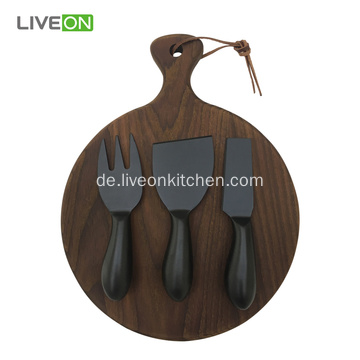 Oxide Black Cheese Knife mit Block