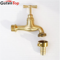 GutenTop High Quality Brass Surface polished bibcock with brass color tap used to Garden