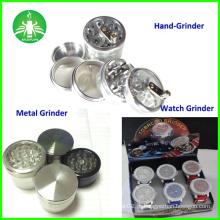 Moedor de metal, moinho de vaporizador de ervas daninhas, moedor de relógio