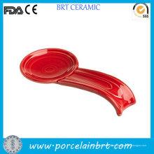 Cuchara de cerámica roja grande Sopa Resto