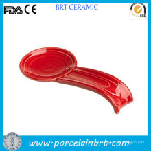 Ceramic Red Big Soup Spoon Rest