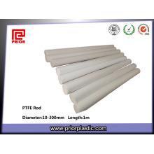 Sinterización Engineering Plastic PTFE Teflon Rod blanco