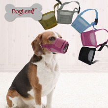 En gros Pas Barking Nylon Maille Anti Bite Pet Masque Chien Museau doux respirant museau pour animaux de compagnie
