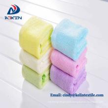10*10 inch 100% organic baby white bamboo washcloth