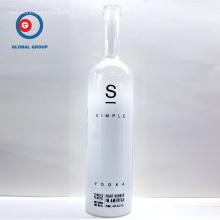 Serigrafía vacía botella de vidrio vodka 750ml