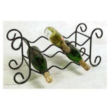 6 botellas de hierro forjado estante del vino