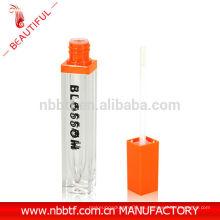Hermosos cuadrados cosméticos lipgloss tubos