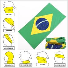 Lenço multifuncional para torcedores de futebol com design personalizado