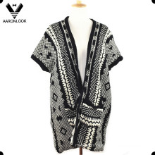 Женщины Мода зимние трикотажные свитера шаль