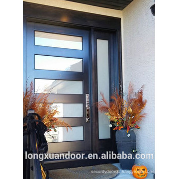 Glass Window Design Door, A Perfectly Chic Solution for Hallway Entrance, Solid Wood One and Half Door