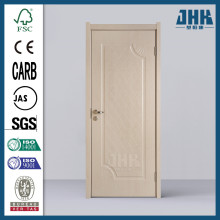 Puerta de PVC de color amarillo de un panel JHK