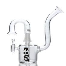 Mini Rig Glaspfeife zum Rauchen mit abgewinkeltem Mundstück (ES-GB-064)