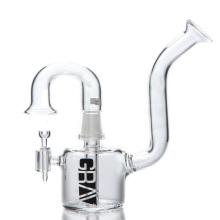 Mini Rig Glass Pipe for Smoking with Angled Mouthpiece (ES-GB-064)