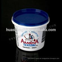 Hochwertige Lebensmittelqualität PP Kunststoff Spritzguss 350ml Smoothie Cups mit Deckel für den Großhandel