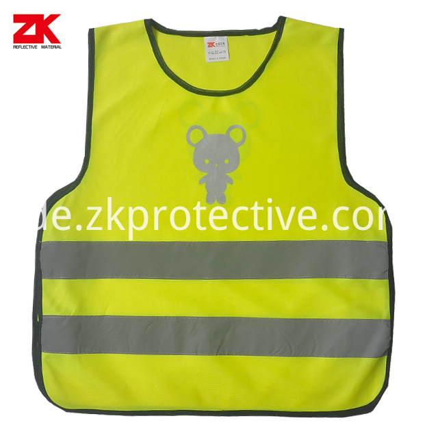 Kid Safety Vest With Reflective Shape