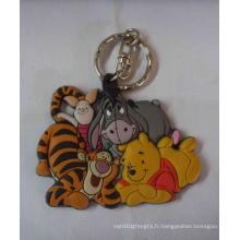 Porte-clés pour animaux en PVC, fabricant de clés en caoutchouc (GZHY-KA-018)
