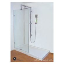 Verre trempé ajuster la charnière pivotante de la porte de douche