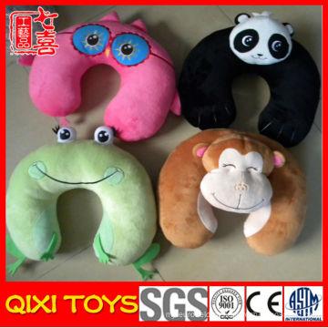 Chinês animal pescoço travesseiro engraçado u forma dos desenhos animados travesseiro pescoço plush animal pescoço apoio travesseiro de viagem