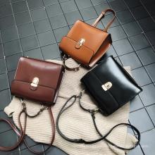 2021 Fashion Retro Leather Small Square Bag Women Messenger Bag