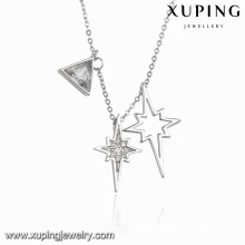 Necklace-00102 Fashion Charm Special Cubic Zirconia Jewelry Necklace in Rhodium Color