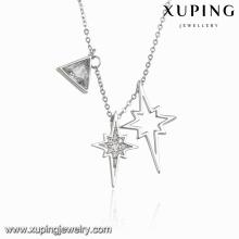 Colar-00102 moda charme especial cubic zirconia jóias colar na cor ródio
