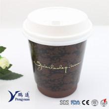 Premium Venda por atacado descartáveis dupla parede isolados café copo de papel