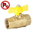 low lead brass full port ball gas ball valve factory