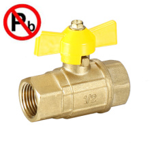 Válvula de esfera de gás de esfera de porta cheia de latão baixo
