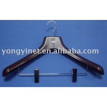 plastic suit hanger with metal clip for trousers