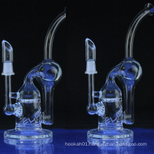 Glass Recycler Water Pipe for Daily Use with Honeycomb (ES-GB-034)