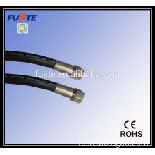 Extruded rubber flexible hose with brass fittings