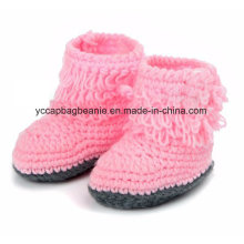 Baby Christening Handmade Crochet Knit Shoes