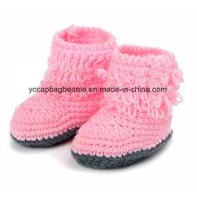 Baby Christening Handmade Crochet Malha Sapatos