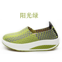Green Outdoor Casual Woven Shoes