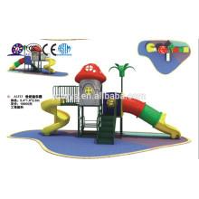 A1513 meubles de jardin maternelle Hotsale Enfants Champignons en plein air Terrain de jeu en plastique Set enfant tunnel en plastique toboggan aire de jeux
