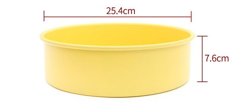 10' Carbon Steel Non-Stick Round Cake Pan With Removable Bottom -Yellow (14)