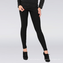 Hot Lady Classic Black Leggings simples avec large bande