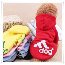 Roupa por atacado do cão, roupa quente dos hoodies do inverno do animal de estimação da venda, roupa do animal de estimação do cão