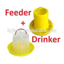 Alimentadores e bebedores automáticos de frango para casa de aves