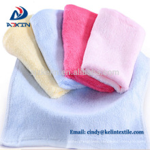 Natural bamboo fiber face towel terry baby washcloth towels
