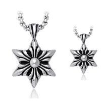 Hombres Hexagram Jewelry Colgante 2 Tamaño 316L Acero Inoxidable