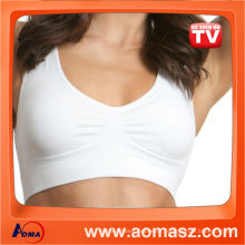 Supplier wholesale sports bra genie bra with removable pad seamless bra