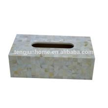Süßwasser-Shell natürliche Farbe Rechteck kreative Tissue-Box
