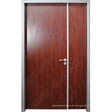 Fabricante à prova de fogo de madeira em China, portas exteriores de madeira, porta de madeira India do folheado